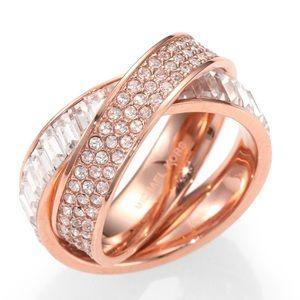 Size 6.5 MK fashion jewelry ring set